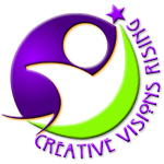 Creative Visions Rising Sticky Logo